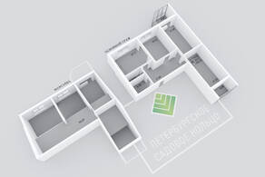 МЖК «Петербургское Садовое кольцо», планировка 3-комнатной квартиры, 169.49 м²