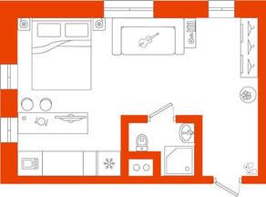 МФК «Best Western Zoom Hotel», планировка студии, 31.80 м²