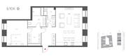 ЖК «Cloud Nine», планировка 2-комнатной квартиры, 80.20 м²