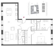 ЖК «Cloud Nine», планировка 2-комнатной квартиры, 90.10 м²