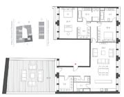 ЖК «Cloud Nine», планировка 3-комнатной квартиры, 177.20 м²