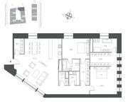 ЖК «Cloud Nine», планировка 3-комнатной квартиры, 153.40 м²