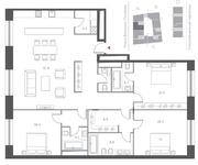 ЖК «Cloud Nine», планировка 4-комнатной квартиры, 162.80 м²