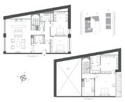 ЖК «Cloud Nine», планировка 4-комнатной квартиры, 223.70 м²