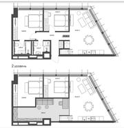 МФК «Mitte», планировка 2-комнатной квартиры, 76.00 м²