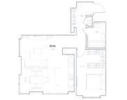 МФК «Residence Hall Шаболовский», планировка 1-комнатной квартиры, 59.76 м²