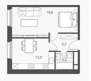 ЖК «Homecity», планировка 1-комнатной квартиры, 41.00 м²