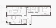 ЖК «Homecity», планировка 2-комнатной квартиры, 71.70 м²