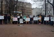 Около ста петербургских покупателей квартир у «СУ-155» вышли на митинг