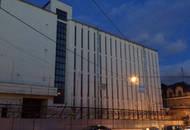 Здание Таганской АТС, где хотят построить комплекс апартаментов, частично снесли