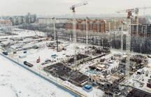 Рабочие ЖК «Полис Приморский» достигли третьего этажа